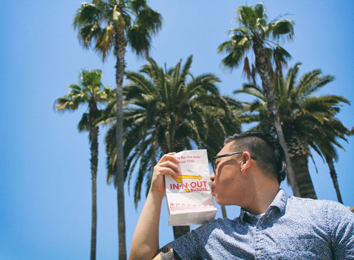 I DID AN ENGAGEMENT SHOOT BETWEEN THIS HERE DUDE AND IN-N-OUT BURGER AND MY LIFE HAS PEAKED